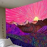 XPTNQ Atrapasueños psicodélico, Tapiz de Pluma de Luna, Hippie, Grande, Mandala, tapices, Pared, Alfombra, decoración de Techo para habitación