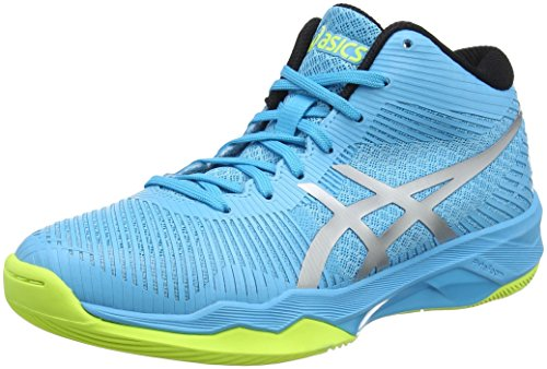 ASICS Damen Volley Elite FF MT Volleyballschuhe, Blau (Aquarium/Silver 400), 39 EU