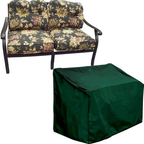 Bosmere Weatherproof Love Seat Cover, 64' Long x 34' Wide x 34' High at Back, Green