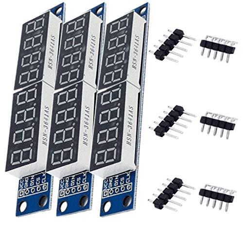AZDelivery 3 x MAX7219 Led Modul 8 Bit 7-Segmentanzeige LED Display für Arduino und Raspberry Pi