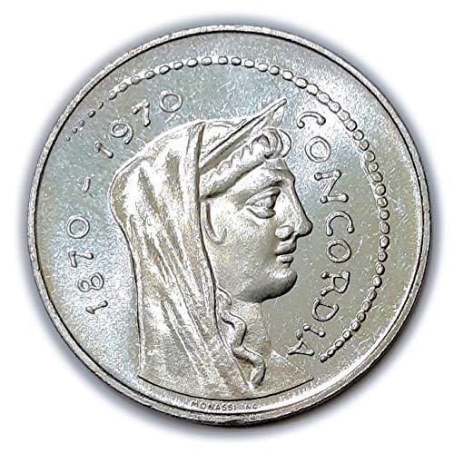 Italia 1000 lire Argento'Roma Capitale' Concordia (14,7 gr. - 31,4 mm.) anno 1970 una moneta da collezione Silver Coin