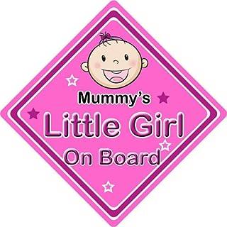 Kfz Schild, Aufschrift 'Mummys Little Girl', personalisierbar, Pink