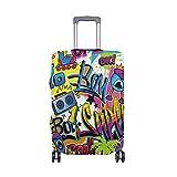 Alinlo Cartoon-Graffiti-Gemälde Wow Gepäck Abdeckung Gepäck Koffer Reiseschutz passend für 45,7-81,3 cm, Mehrfarbig (Mehrfarbig) - wllkn366199bz