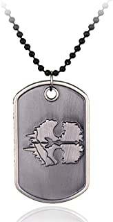 IMIKE Call Duty Dog Tag PS4 Games Limited Edition Cod Ghosts Dog Tag Punk Rock Accessories Ornaments Pendant Necklace for Men Women
