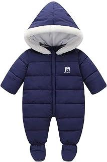 66103fcbc Happy childhood Unisex Baby Winter Hooded Down Jumpsuit Snowsuit Romper Warm  Parmsuit Infant Bodysuit Onesies