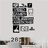 wukongsun Vinyle Stickers muraux Jeu vidéo Jeunesse Stickers décoration de la Maison Stickers...