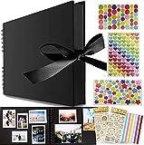 Scrapbook Album de Fotos,DIY Scrapbooking Album,Kit de álbum de fotos,Álbum De Recortes para Boda Aniversario de Boda de Oro Cumpleaños Navidad para Mujer Niña Novia Regalos (Amarillo)