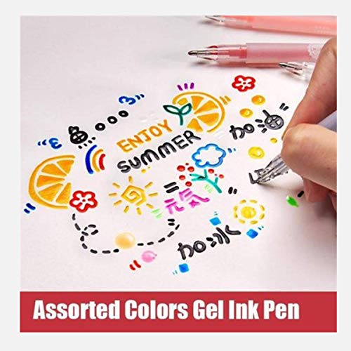 3d Glossy Jelly Ink Pen Set - 12 Pcs Assorted Colors Metallic Gel Ink Pen, Perfect to Decorate Cards and Tags, Book Covers, Ornaments, Votives, Frames, Fill Rubber Stamp Designs, and More (12PCS)