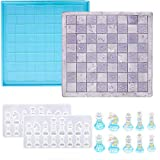 MIANRUII - Juego de moldes de resina de ajedrez (2 moldes de piezas de ajedrez 3D, 1 molde de moldeado epoxi de ajedrez para la fabricación de artesanía, arte de bricolaje, juegos de mesa familiares)