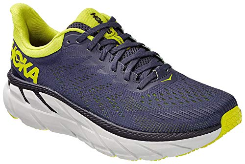 HOKA ONE ONE Men's Clifton 7 Running Shoe (Odyssey Gray / Evening Primrose, 9)