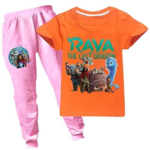 Raya and The Last Dragon - Juego de camiseta y pantalones unisex para niños y niñas
