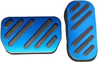 Bwen Car Acceletator Pedal Cover Aluminium Alloy Non-Slip Performance Foot Pedal Pads Cover 2 pcs for 2018 2019 Toyota CHR,Blue