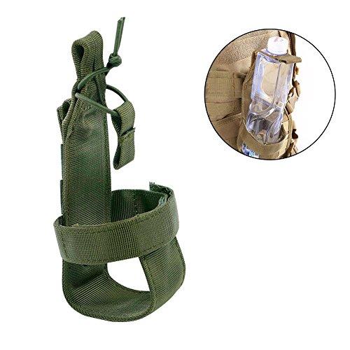 Augproveshak Flaschenhalter Gurt Nylon Starke strapazierfähige Flaschenhalterung für Outdoor Reisen Camping Wandern Rennrad Flaschenhalter, Armee-grün