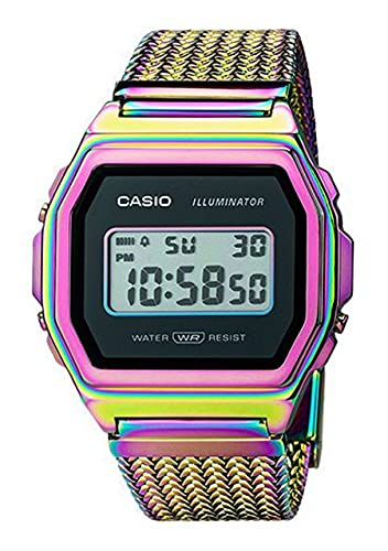 Casio Collection Vintage Iconic A1000PRW-1ER - Reloj Digital con Alarma.