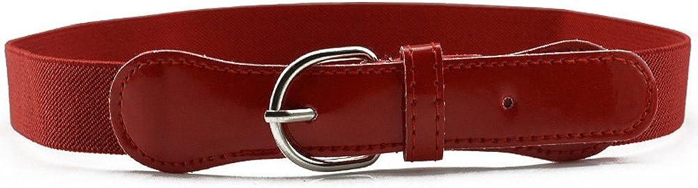 WSHINE Boys Girls Kids Elastic Adjustable StreTch Belt with Leather Closure