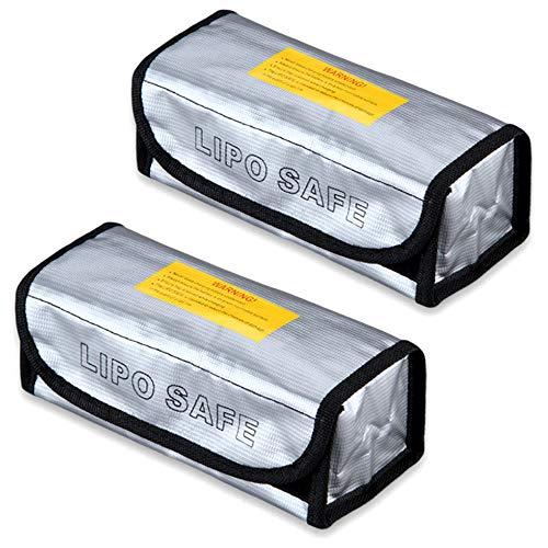 Nuluxi Batterie Sichere Tasche mit Griffdesign Feuerbeständige Sicherheit Tasche Lipo Batterie Sichere Guard Tasche Feuerfest Explosionsgeschützte Werkzeug für Aufladung und Lagerung von Batterien