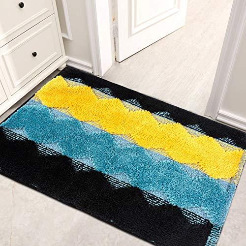 Felpudo de entrada frontal, 52 x 80 x 1,8 cm, absorbente y suave, lavable a máquina, antideslizante, para puerta delantera, dormitorio, pasillo