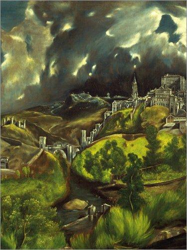 Posterlounge Lienzo 70 x 90 cm: Gewitter über Toledo. Um 1597-99 de ARTOTHEK - Cuadro Terminado, Cuadro sobre Bastidor, lámina terminada sobre Lienzo auténtico, impresión en Lienzo