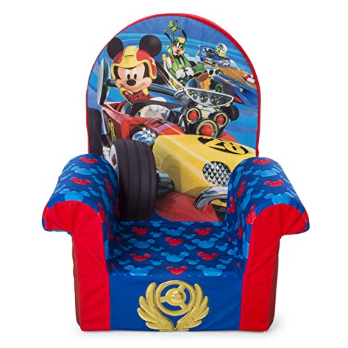 Marshmallow Furniture 6038513, Children's Foam High Back Chair, Disney Mickey Mouse Roadsters High Back Chair, Multi Color
