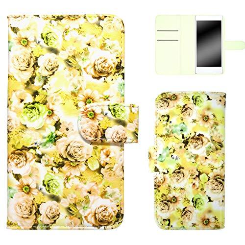 ホワイトナッツ HONEY BEE 201K スマホケース 手帳 バラ柄 イエロー ケース ハニー ビー 手帳型 カバー スマホカバー WN-OD133779_S