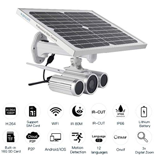 Check Out This Webcam Waterproof 80-Meter Night Vision 4G Solar Network Camera Built-in 16G TF Memor...