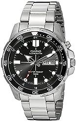cheap Casio MTD-1079D-1AVCF Super Illuminator Diver Men's Quartz Silver Watch with Analog Display