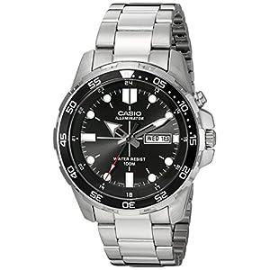 Casio watches Casio Men's MTD-1079D-1AVCF Super Illuminator Diver Analog Display Quartz Silver Watch