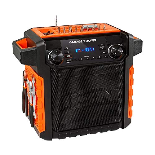 ION Audio Garage Rocker Portable Bluetooth Speaker - Black / Orange