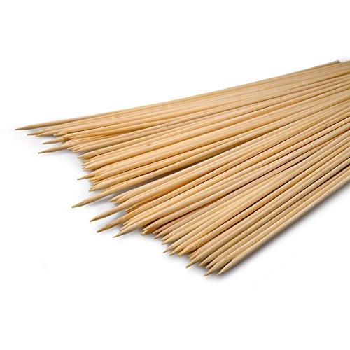 YOUZiNGS Lot de 70 brochettes en bois - 30 cm de long - Diamètre : 0,3 cm