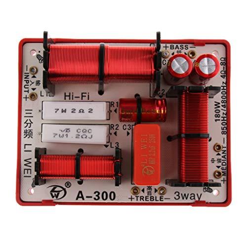 Baoblaze Module Diviseur de Fréquence Aigu Grave HiFi Audio Haut-Parleur Crossover 180w à 3 Voies Filtres