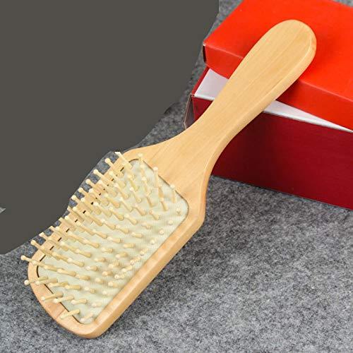Peine de masaje para el cabello Madera Bambú Cojín antiestático profesional Cepillo para la pérdida de cabello Cepillo para el cabello Peine Cuero cabelludo Cuidado del cabello Saludable 3