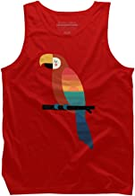 Design By Humans Sunset Parrot Men's Graphic Tank Top