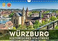 WUeRZBURG Historisches Stadtherz (Wandkalender 2022 DIN A4 quer): Sommerliche Impressionen aus Unterfranken (Monatskalender, 14 Seiten )