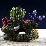 zhuangyif 1PC Acuario Artificial Shell Montada Coral Coral Reef Fish Tank Cueva submarina Ornamento decoración