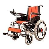 Silla de ruedas Silla de ruedas eléctrica ligera de doble función plegable (batería de iones de litio), conducir con energía eléctrica o usar como silla de ruedas manual Silla de ruedas automática in