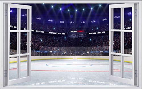 Eishockey Sport Stadion Feld Wandtattoo Wandsticker Wandaufkleber F1858 Größe 40 cm x 60 cm