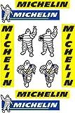 stickersracing X10 Pegatinas Adhesivo Sponsor Compatible con Michelin Impresión Laminado mas protecc...