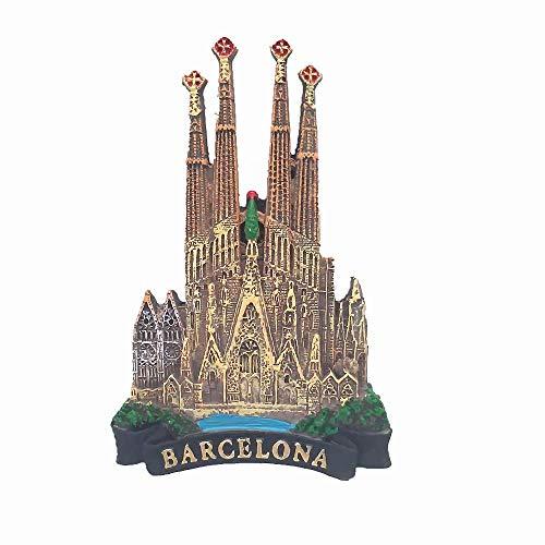 Sagrada Família Cattedrale di Barcellona Spagna Calamita da frigorifero 3D Regalo Regalo Regalo Casa e Cucina Decorazione Magnetica Sticker Barcellona Spagna Calamita Frigorifero Collezione