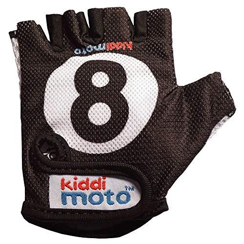 KIDDIMOTO Guantes de Ciclismo sin Dedos para Infantil (niñas y niños) - Bicicleta, MTB, BMX, Carretera, Montaña - 8-Ball/Bola 8 - Talla: M (5-8 años)