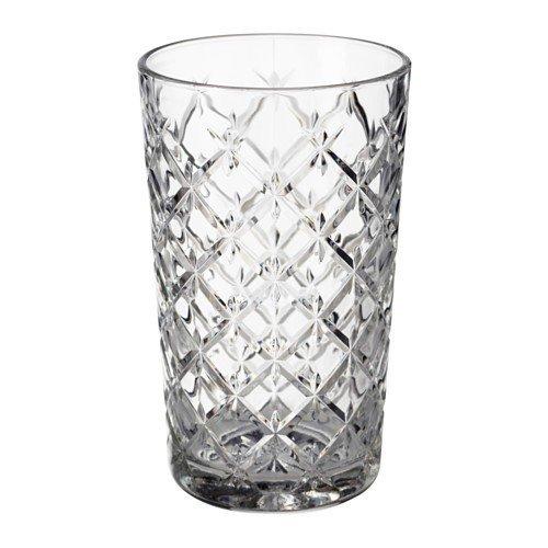 IKEA FLIMRA Gläser aus Klarglas; gemustert; (42cl); 4 Stück