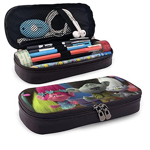 Trol-Ls - Estuche para lápices de papelería, suministros escolares, bolsa de viaje para cosméticos, estudiantes deben tener