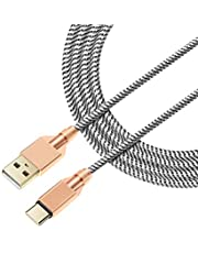 USB C Cables Supido 1M Nylon Braided USB-C to USB A Cable 5A Supercharge Type C Cable Super Charging Cord