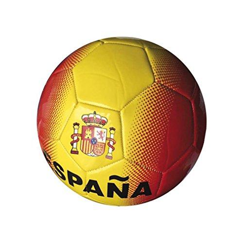 Junatoys spaña Balón fútbol, Hombre, Rojo/Amarillo, Talla Única