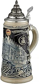 Beer Steins By King - HB Muich Hofbrauhaus Relief Stein 0.5l Limited Edition Stone Grey