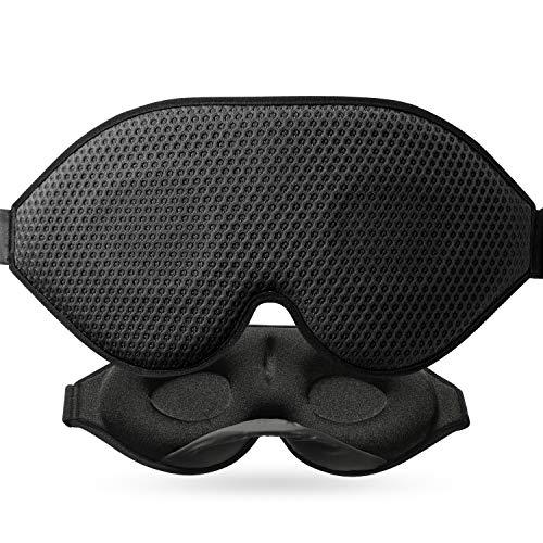 3D Schlafmaske Für Absolute Dunkelheit, 2020 Neu Entwickelte Schlafbrille Für Frauen Und Herren, Atmungsaktive Gewebe-Belüftungsöffnungen, Augenmaske Mit Verstellbarem Tragegurt Für Reisen, Nickerchen