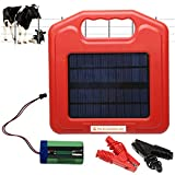 Solar Powered Fence Charger (w/Sign) Energizer Panel, 0.1 Joule Electric Power &...