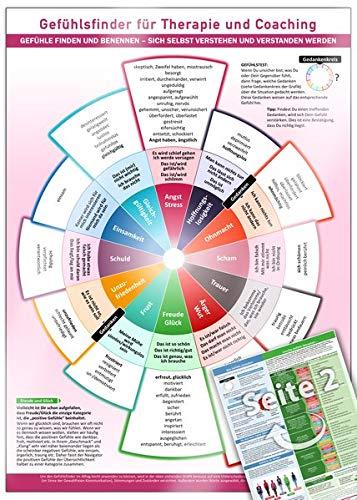 Gefühlsfinder für Therapie und Coaching (2020): Gefühle finden und benennen - sich selbst verstehen und verstanden werden - Mit über 100 Gefühlsbegriffen (DIN-A4, laminiert)