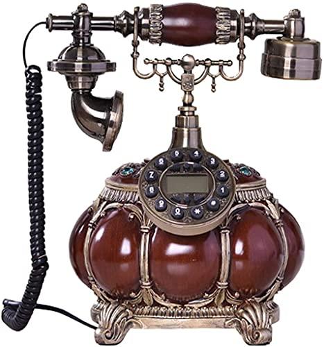 MUZIDP Teléfono Decorativo Teléfono Inicio Oficina Teléfono con Cable, Teléfono Móvil Retro Clásico, Teléfono Antiguo, Estilo Retro Teléfono con Cable Dial Oficina Decoración (Color : A)