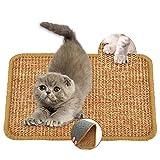 Auflosung Katzenkratzmatte, Langlebige Rutschfestes Katzen kratzmatte natürliche Sisalmatte für Wand & Boden Möbelteppiche und Sofas SchützenKatzenkrallen Pflegespielzeug (40 * 60cm)