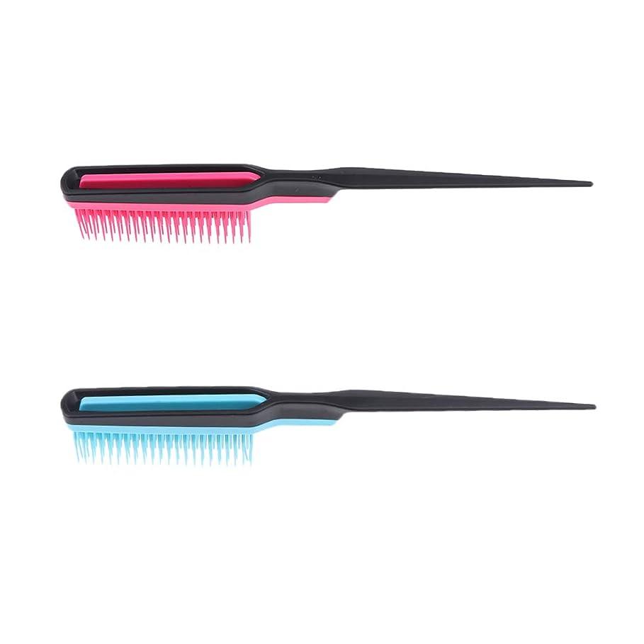 に同意する終点慣習F Fityle 2個 ふわふわ 櫛 ナチュラル ヘアブラシ ヘアスタイリスト 理髪